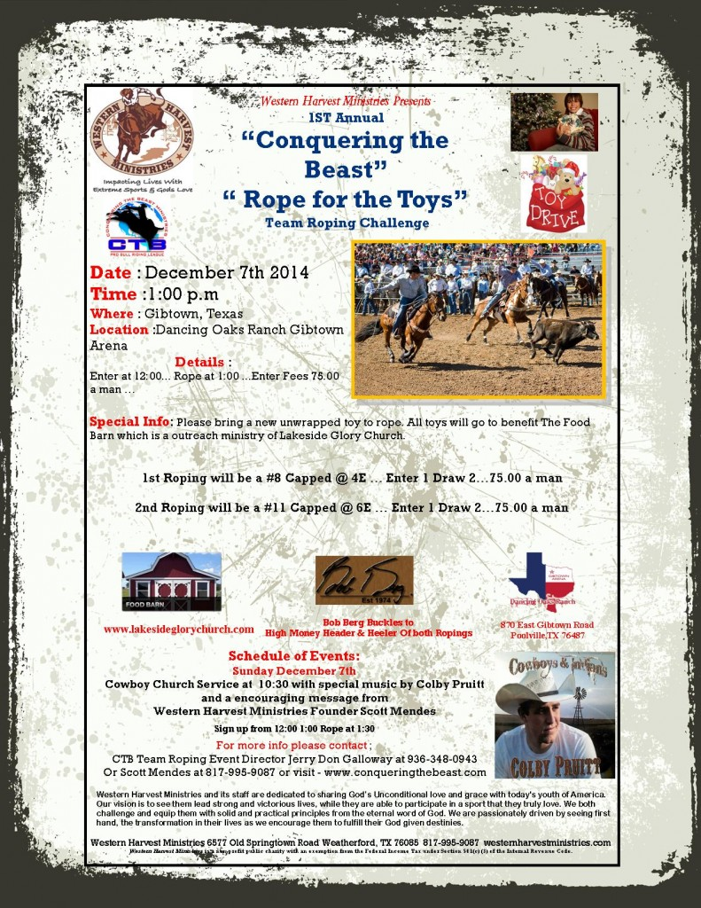 Conquering the Beast team Roping flyer4